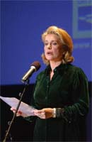 "Catherine Deneuve at the event ""Cuba si, Castro no"" - Photo Eric Feferberg (AFP)"