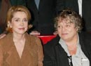 "Catherine Deneuve and Josée Dayan at the press screening of  ""Les liaisons dangereuses"" - photo Stéphane Cardinale"