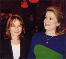 "Catherine Deneuve and Isabelle Huppert at the fundraising gala for association ""Ensemble contre le sida"""