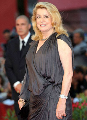 Catherine Deneuve at the 2010 Venice Festival
