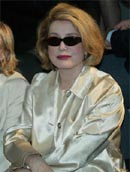 Catherine Deneuve at the Louis Vuitton ready-to-wear fashion show - photo Stéphane Cardinale